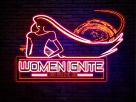 WII neon sign woman light